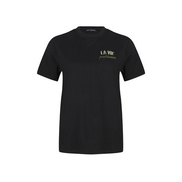 Lofty Manner Lofty Manner Zwart T-Shirt La Vie Parasienne Alisha