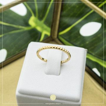 Charmin*s Charmin's R742 Half Nefertiti Gold Steel