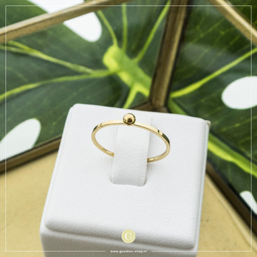 Charmin*s Charmin's R529 Dot Ring Gold Steel