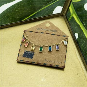 Go Dutch Label GDL Goudkleurige Armband Gekleurde Bedels