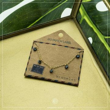 Go Dutch Label GDL Goudkleurige Armband Zwarte Kraaltjes