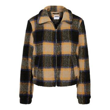 Noisy May Noisy May Geruite Jacket Bruin/Zwart