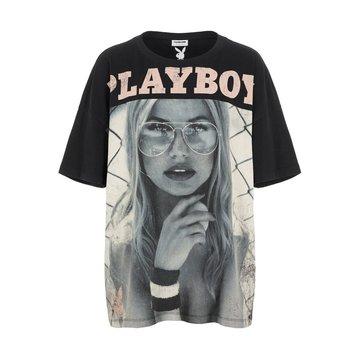 Noisy May Noisy May Oversized T-Shirt Zwart Playboy