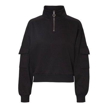 Noisy May Noisy May Zwarte Sweater Met Rits