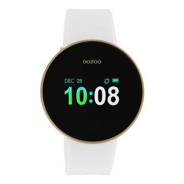 Oozoo Timepieces Oozoo Smartwatch Goudkleurig/Wit Q00102