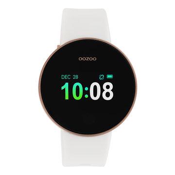 Oozoo Timepieces Oozoo Smartwatch Rosékleurig/Wit Q00103