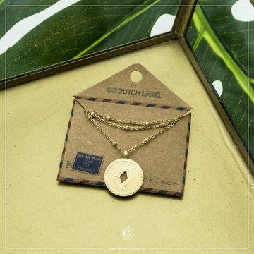 Go Dutch Label GDL Goudkleurige Ketting Hanger Coin