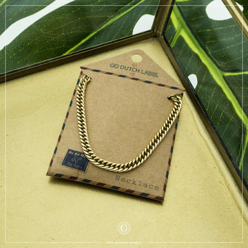 Go Dutch Label GDL Goudkleurige Schakelketting