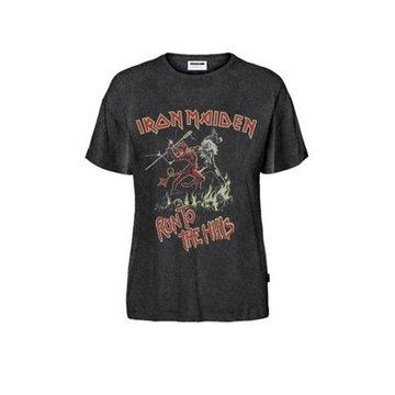 Noisy May Noisy May Grijs Band T-Shirt Iron Maiden