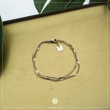 Zag Bijoux Zag Bijoux Goudkleurige Armband 3 Laagjes