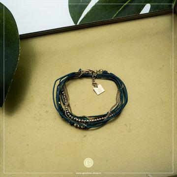Zag Bijoux Zag Bijoux Goudkleurige Armband Groen