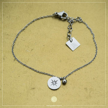 Zag Bijoux Zag Bijoux Zilverkeurige Armband Bedel Ster