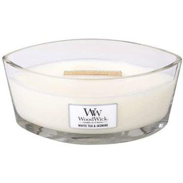 WoodWick WoodWick White Tea & Jasmine Ellipse Candle