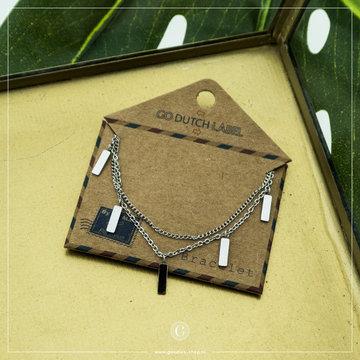 Go Dutch Label GDL Zilverkleurige Armband Bedeltjes