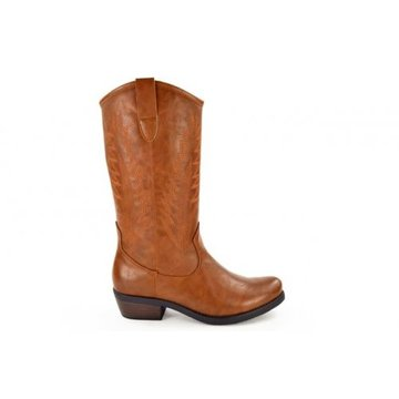 Fabs Shoes Fabs Shoes Western Boots Cognac