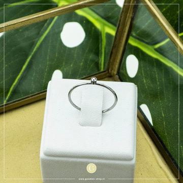 Charmin*s Charmin*s Zilverkleurige Ring Crystal