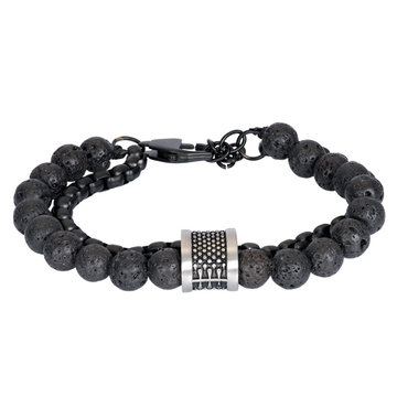 iXXXi Men iXXXi Men Bracelet Nick Mat Zilver One Size