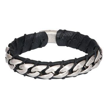 iXXXi Men iXXXi Men Bracelet Alex Mat Zilver Zwart