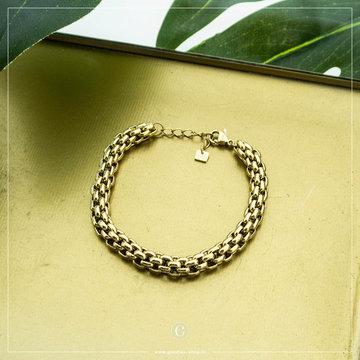 By Jam Gioielli By Jam Goudkleurige Armband Big Chain