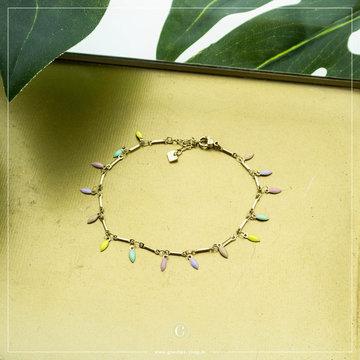 By Jam Gioielli By Jam Goudkleurige Armband Pastel Beads