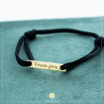 Imotionals Imotionals Silk Cord Armband Forever Yours Goudkleurig