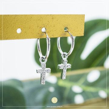 Karma Karma Hoops Symbols Zirconia Faith 2 Zilver