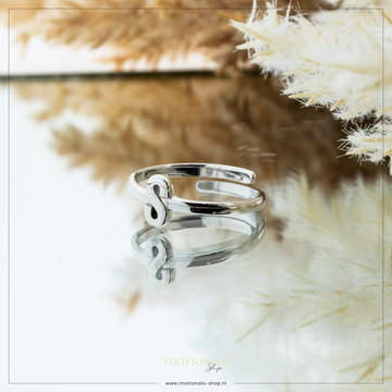 Imotionals Imotionals Initiaal Ring S Zilver