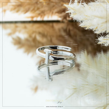 Imotionals Imotionals Initiaal Ring T Zilver