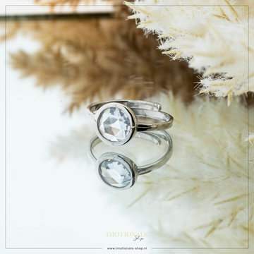 Imotionals Imotionals One Size Ring Big Diamond Zilver