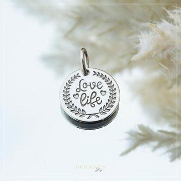 Imotionals Imotionals Coin Hanger Love Life Zilverkleurig