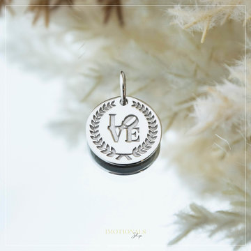 Imotionals Imotionals Coin Hanger Love Zilverkleurig