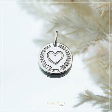 Imotionals Imotionals Coin Hanger Hart Zilverkleurig