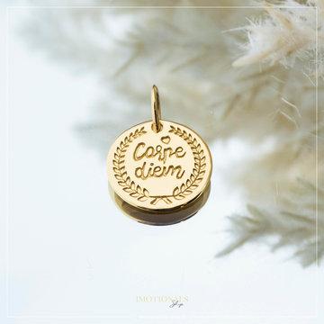 Imotionals Imotionals Coin Hanger Carpe Diem Goudkleurig