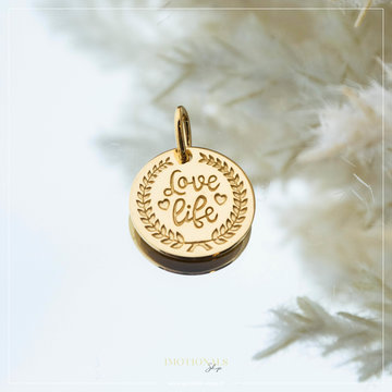 Imotionals Imotionals Coin Hanger Love Life Goudkleurig