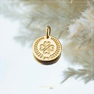 Imotionals Imotionals Coin Hanger Klaver Goudkleurig