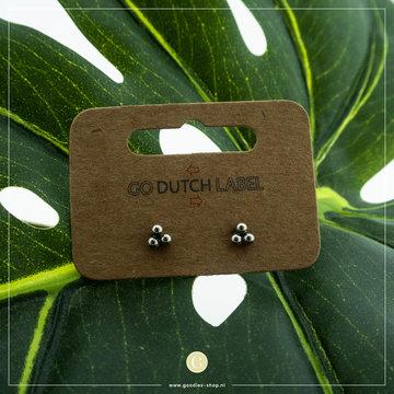 Go Dutch Label GDL Zilverkleurige Oorbellen Drie Dots