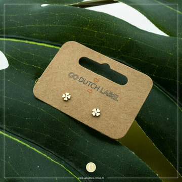 Go Dutch Label Go Dutch Label Oorbellen Little Clover E8840 Goudkleurig