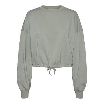 Noisy May Noisy May Cropped Sweater Grijs