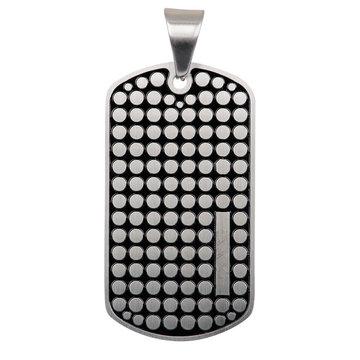 iXXXi Men iXXXi Men Pendant Dog Tag Dots Mat Zilverkleurig