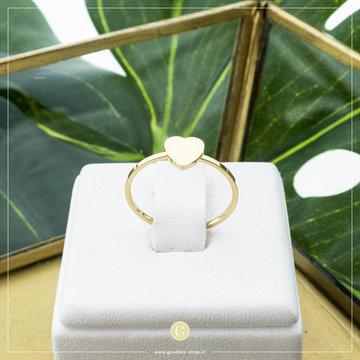 Charmin*s Charmins Ring R823 Goudkleurig Hartje