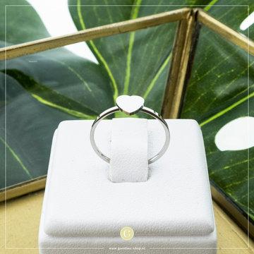 Charmin*s Charmins Ring R822 Zilverkleurig Hartje