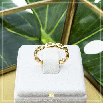 Charmin*s Charmins Ring R835 Goudkleurig Speels Patroon