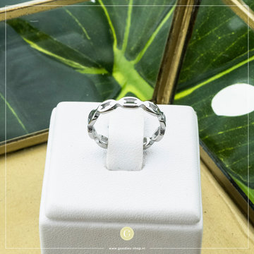 Charmin*s Charmins Ring R834 Zilverkleurig Speels Patroon