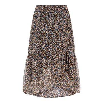 Pieces Pieces Midi Wrap Skirt Bloemenprint