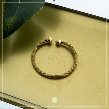 Zag Bijoux Zag Bijoux Armband Bangle Bruin / Goudkleurig