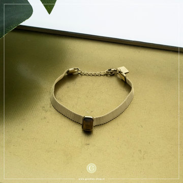 Zag Bijoux Zag Bijoux Armband Bruine Steen Goudkleurig