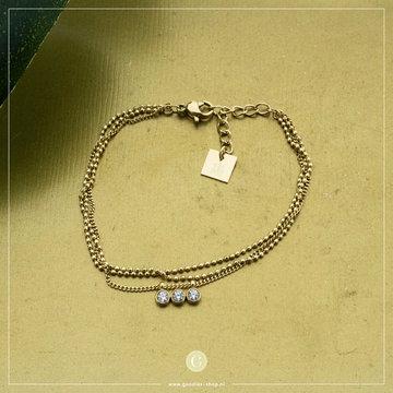 Zag Bijoux Zag Bijoux Armband Crystal Goudkleurig