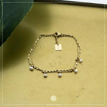 Zag Bijoux Zag Bijoux Armband Crystallen Beads Goudkleurig