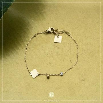 Zag Bijoux Zag Bijoux Armband Klaver Goudkleurig