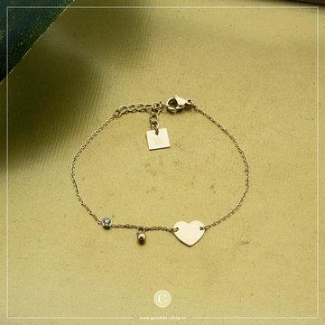 Zag Bijoux Zag Bijoux Armband Hart Goudkleurig